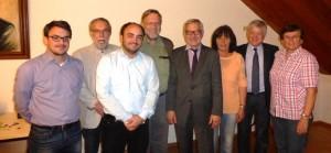 Im Bild von links: Ulrich Glück (Kassier), Klaus Burkert (Schriftführer), Christoph Glück (Bereitschaftsleiter), Dr. Wolfhard Weihmann (2. Vorsitzender) Willi Leonhardt (1. Vorsitzender), Brigitte Heimberger (Beisitzerin), Jörg Biermann (Kreisgeschäftsführer) und Erika Schmidt (Beisitzerin)